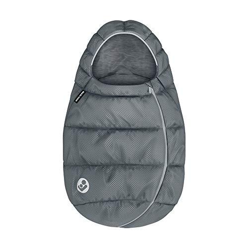 Maxi-Cosi saco para Silla coche Grupo 0+ bebé recién nacido, forrado con felpa y acolchado, mantiene el bebé calido y protigido, color Essential Grey (Gris)