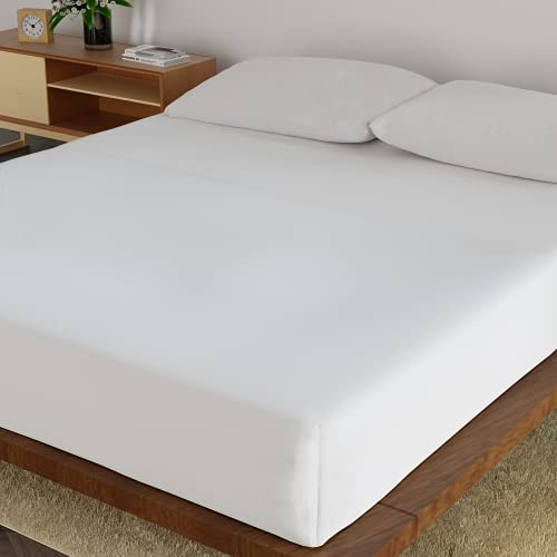Ackly Bamboo Bedding Double Fitted Sheet - 40cm Deep Fitted Sheets Double -...