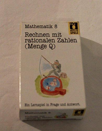 Aulis Kartenspiele. Faltschachtel mit 80 Spielkarten, 1 Spielanleitung und 1 Lösungskarte. Kartenformat 8,9 × 5,7 cm: Aulis Spiele, Mathematik, Nr.8, Rechnen mit rationalen Zahlen (Menge Q)
