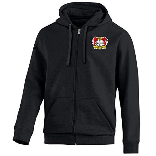 JAKO Herren Team Bayer 04 Leverkusen Kapuzenjacke, schwarz, M
