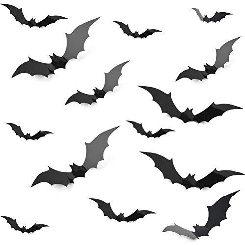 WOWOSS 28 Pcs Halloween 3D Bats Wal…