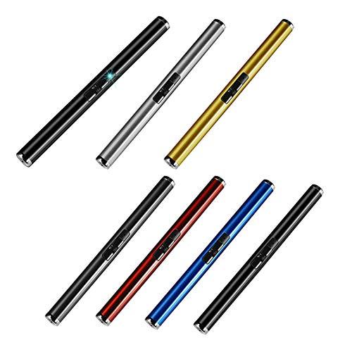 mementoy 1 encendedor de vela a prueba de viento rápido recargable ARC USB encendedor eléctrico para el hogar, cocina, barbacoa al aire libre, camping (color aleatorio)