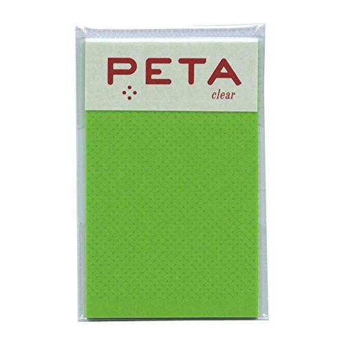 PETA/ペタ のり付箋 clear Sサイズ【スプリンググリーン】 1736215