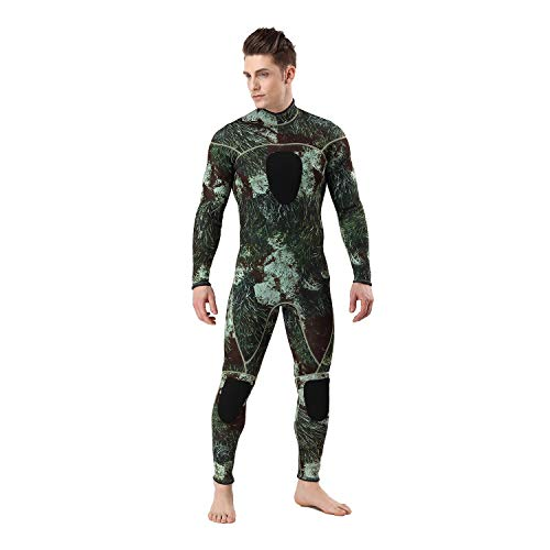 Wetsuits Mens 3MM Camo Neoprene Scuba Diving One Piece Sport Skin Spearfishing Full Wet Suit … (3MM, L)