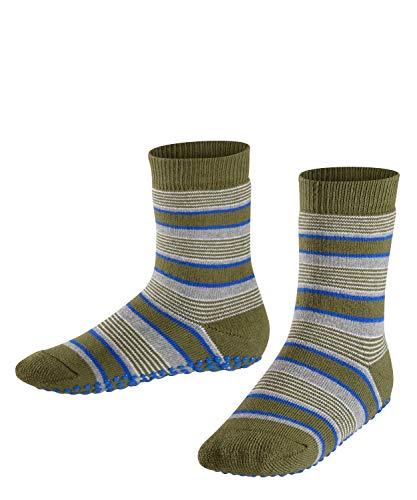FALKE Unisex Kinder Mixedstripe Cp Socken Stoppersocken, Grün (Cypress 7932), 31-34