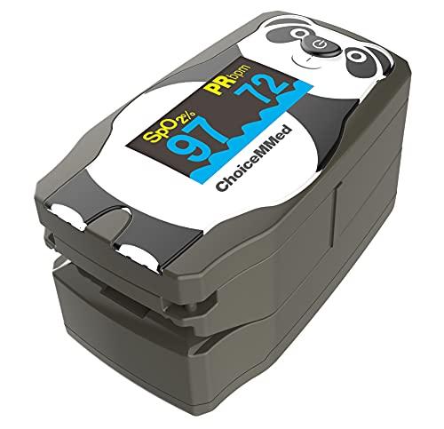 Oxímetro de pulso de dedo ChoiceMMed, MD300C55, oxímetro con apariencia de caricatura para medir la frecuencia cardíaca y la saturación de oxígeno (SpO2), dispositivo de monitoreo fisiológico