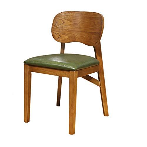hsj LF- Silla de comedor, silla de escritorio simple, respaldo creativo, silla de ocio, silla de comedor para adultos (color: verde)
