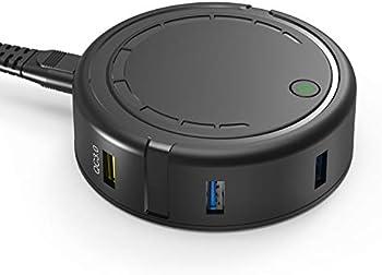 Bototek 6-Port USB Charger Desktop Charging Station Dock & Organizer