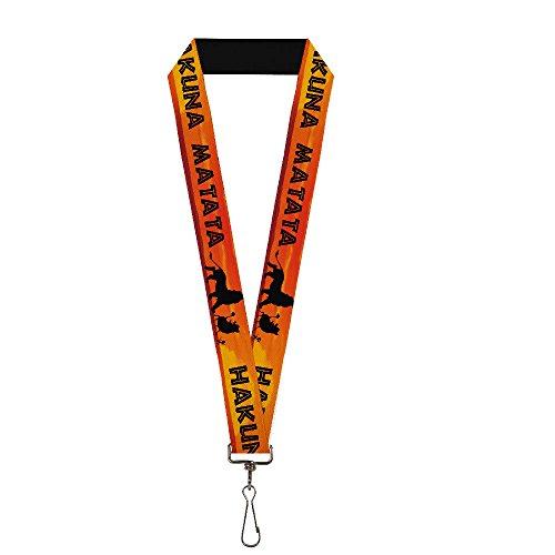 Buckle-Down Lanyard - Lion King HAKUNA MATATA Sunset Oranges/Black