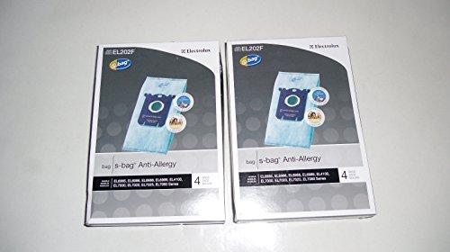 2 Box Electrolux Canister Vacuum Anti-Allergy Type S Bags Genuine Part # EL202F-4, EL202F, EL202
