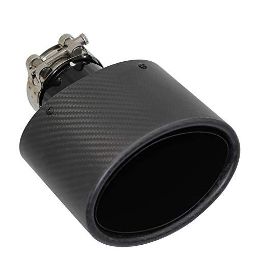 JNSMQC Silenciador Silenciadores de coche de carbono Punta Boquilla de tubo de...
