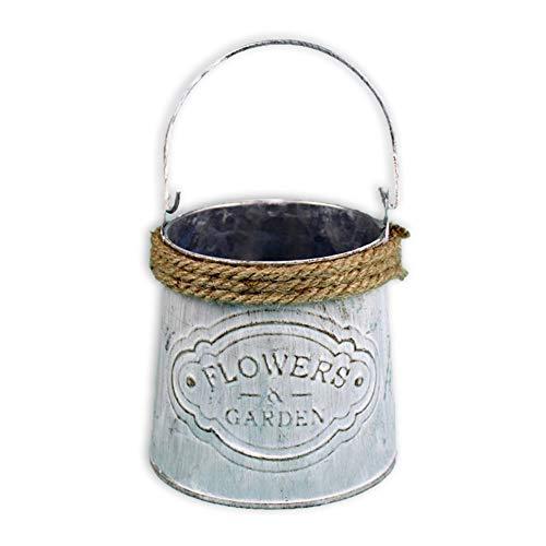 Keebgyy Moonvvin - Maceta de hierro con cuerda de cáñamo, para decoración del hogar