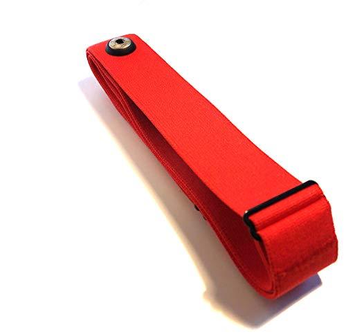 GO-SHOPPING24 Sangle de poitrine de rechange Soft Strap Rouge – Pour modèles GARMIN Sangle de poitrine premium pour la fréquence cardiaque, compatible HRM-RUN, M à XXL