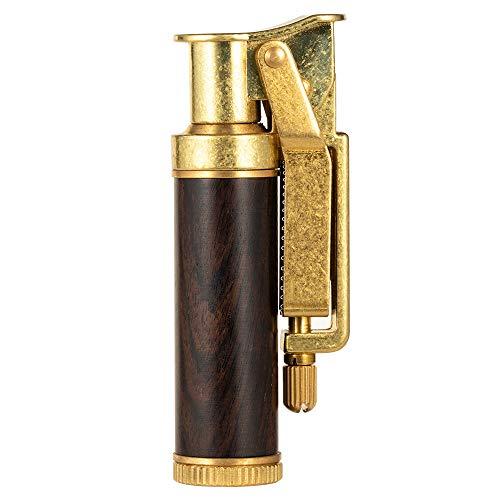 Yusud Vintage Trench Lighter, Fluid Refillable Copper Lighter, Antique Replaceable Flint Lighters
