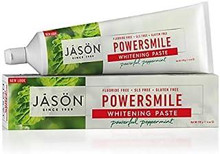 Jason Powersmile Whitening Fluoride-Free Toothpaste, Powerful Peppermint, 6 Oz