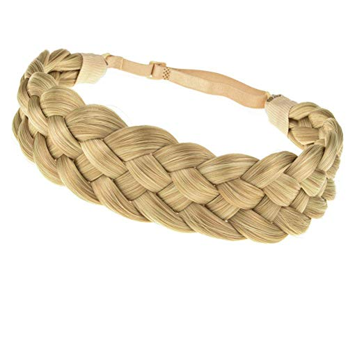 TOECWEGR - Fascia per capelli intrecciata, 5 fili intrecciati, stile classico e voluminoso elastico sintetico, accessorio di bellezza da donna (treccia a cinque fili B09)