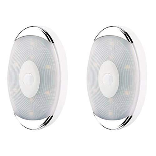 Esenlong 2 luces LED nocturnas con sensor de movimiento, inalámbricas, luz blanca cálida, para pasillo, dormitorio, habitación, cocina