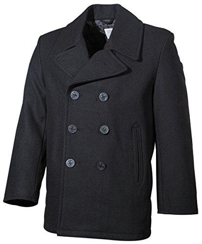 MFH US Pea Coat Caban Noir Large noir