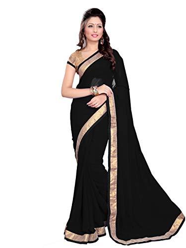 MirchiFashion MirchiFashion Bollywood indischer Frauen Sari mit Ungesteckt Oberteil/Top Party Indians Saree Kleidung