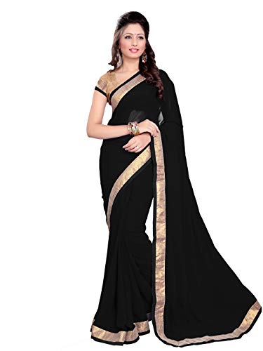 MirchiFashion Bollywood indischer Frauen Sari mit Ungesteckt Oberteil/Top Party Indians Saree Kleidung