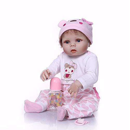 TERABITHIA 22 Zoll 55cm Little Mimi Baby Mädchen Puppe Handgefertigt in Silikon Vinyl Ganzkörper Realistische Neugeborene Wiedergeboren Puppen Sammlerstück Waschbar Kinder Geburtstag