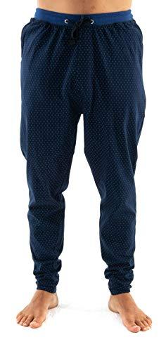 El Búho Nocturno Pantalón de Pijama Suelto de Hombre Largo o Corto Pantalón Pijama Caballero de Estampado o Liso Ropa de Dormir para Hombre Punto de algodón