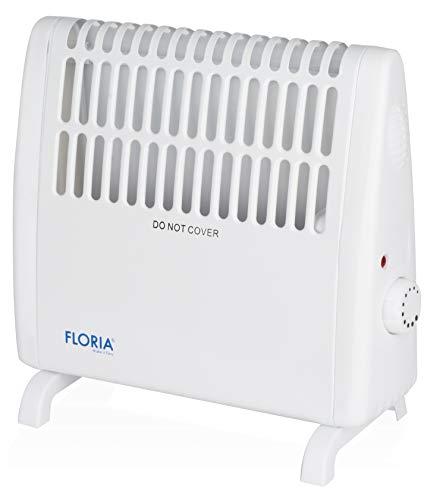 Konvektor | Heizlüfter | Mini Heizung | Heizstrahler | Stufenloses Thermostat | 450 Watt | Überhitzungsschutz | Wandmontage möglich |