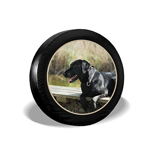 Black Lab Retriever - Cubierta de neumático de repuesto para perro, impermeable, a prueba de polvo, UV, para llantas, remolques, caravanas, SUV y muchos vehículos de 14 pulgadas
