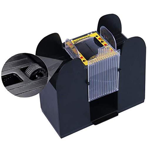 Asolym Poker 6-Deck Card Shuffler Elektrischer, Elektrischer Pokerkartenspender Automatischer Kartenmischer Shuffler für Home Party Club Pokerspiele Casino Dealer
