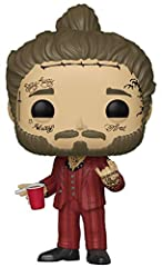 From POP rocks, post Malone, as a stylized POP vinyl from Funko! Figure stands 3 3/4 inches and comes in a window display box . This pop! Is perfect for any post Malone fan! Collect them all!