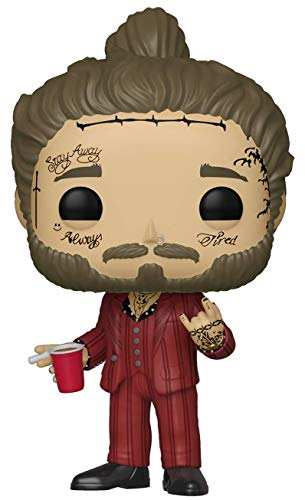 Funko- Pop Vinilo Post Malone Rocks Figura Coleccionable, Multicolor, Talla única (39181)