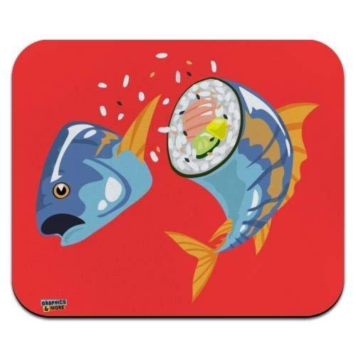 N\A Alfombrilla para ratón, Sushi Atún Yellowtail Roll Perfil bajo Alfombrilla de ratón Delgada Alfombrilla de ratón, Alfombrilla de ratón para Juegos