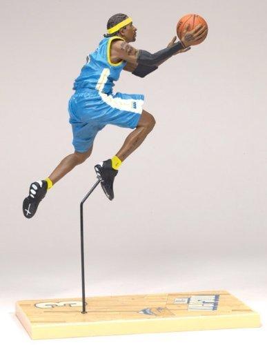 ALLEN IVERSON / DENVER NUGGETS BLUE JERSEY McFarlane 6 Inch NBA SERIES 12 Sports Picks Action Figure