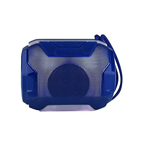 ZZNNN Pequeño Altavoz Bluetooth Altavoces portátiles de luz LED Altavoz estéreo bajo Caja de Sonido para Exteriores (Color : A)