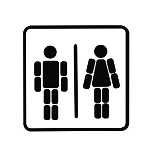 balvi deurindicatiebord Ladies & Gentlemen wit/zwart magnetisch met lijm Maak de gewenste figuren zelf metaal 15 cm