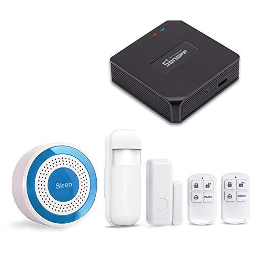 PN-103 Sistema de Alarma WiFi DIGOOGSM. Sirena Estrobosc/ópica para Interior para Sistema de Alarma dom/éstica 433 MHz Compatible con PG101-PG106