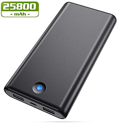 AOPAWA Power bank, Portable Charger [25800mah High Capacity External Battery Pack with Dual USB Output Ultra Compact Power Pack for Smartphone, Tablet and More