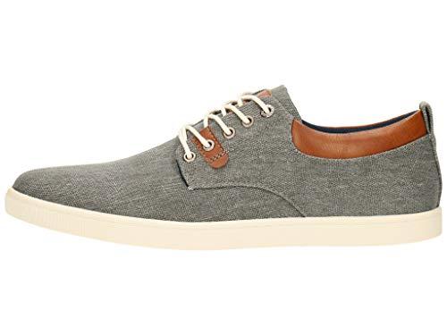 BULLBOXER Herren Low-Top Sneaker, Männer Halbschuhe,maennlich,Mens,Men,Man,schnürschuhe,schnürer,Halbschuhe,straßenschuhe,Grau (Grey),44 EU / 9.5 UK