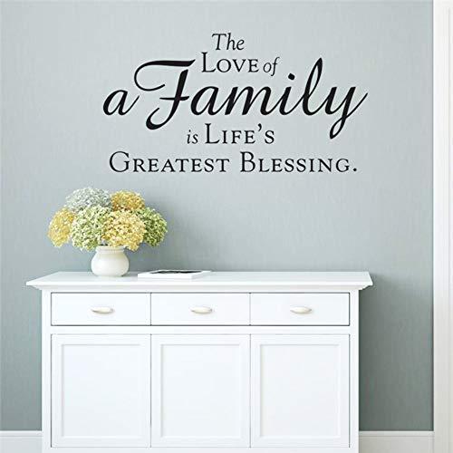 Die Liebe Einer Familie ist Der Größte Segen des Lebens Citaten Home Decoration Muurtattoos slaapkamer DIY Vinyl Kunst Black Sticker