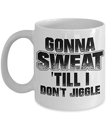 N\A Voy a Sudar hasta Que no me mueva - Taza de café, té, Taza (Blanco)