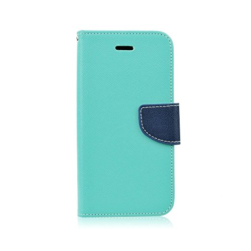 'Elegante Funda Tipo Libro Flip Case Wallet para Samsung Galaxy A3a310F (2016) Funda Funda Carcasa Cover Book Case Turquesa de Color Azul