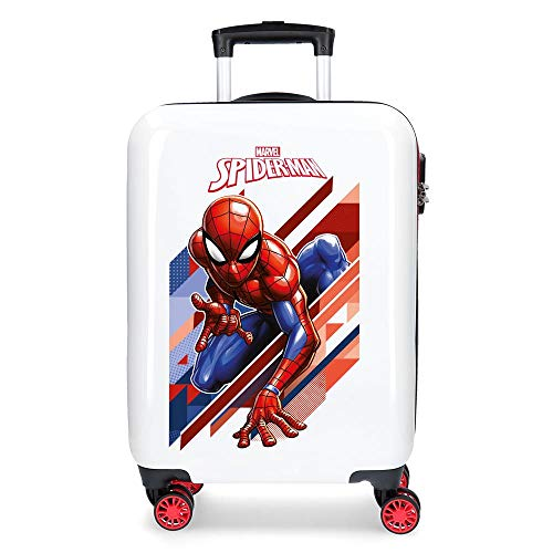 Marvel Spiderman Geo Kabinenkoffer Rot 34x55x20 cms Hartschalen ABS Kombinationsschloss 34L 2,6Kgs 4 Doppelräder Handgepäck