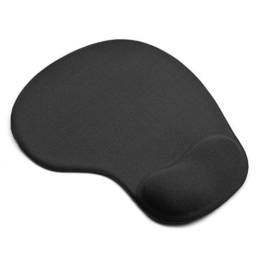 KATUMO® Mouse Pad con Gel Rest, Tappetino per Mouse Gaming Ufficio, Tappetino da Mouse con Poggiapolsi al Gel- Base in Gomma Antiscivolo - Superficie con Texture Speciale, Nero