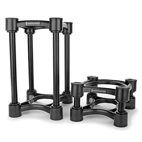 IsoAcoustics Iso-Stand Series Speaker Isolation Stands with Height & Tilt Adjustment: Iso-130 (13 x 15.2 cm) Pair