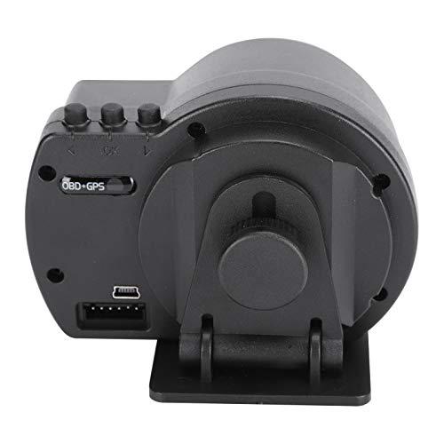 SHYEKYO OBD2 + GPS Smart Gauge, Sistema Dual De Calibre Inteligente para Coche Fácil De Usar para Exteriores