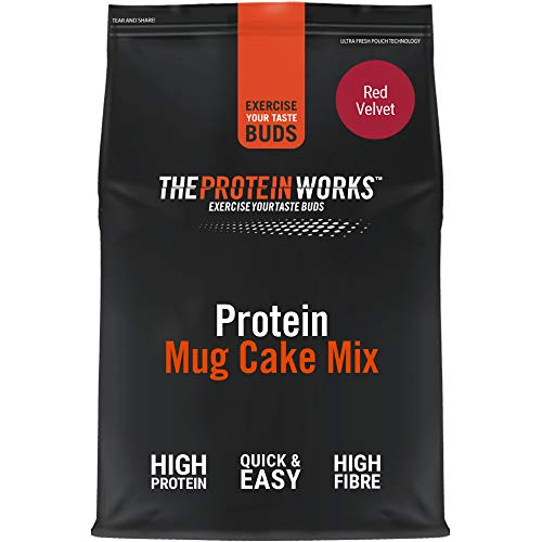 Mug Cake Proteico | Alto en Proteínas, Snack Bajo en Azúcar | Saludable, Se Hace en 30 segundos | THE PROTEIN WORKS | Red Velvet | 500g