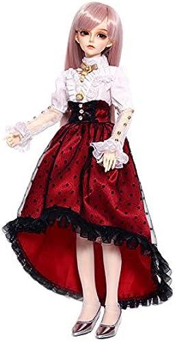 BAOTR BJD Puppe Rosa Langes Haar Retro Rosa Loli Modellierung SD 1 4 Eine vollst ige Reihe von Joint Puppen kann Kleidung Schuhe Dekoration  ern