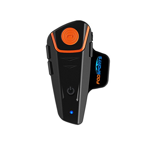 Motorcycle Bluetooth Headset Intercom,Fodsports BT-S2 1000M Helmet Communication (1 pack hard mic)