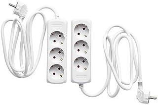 Ikea KOPPLA Mehrfachsteckdosen 3-Fach in weiß geerdet 2 Stück