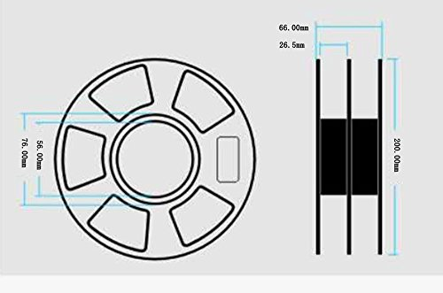 DANITI Tech. Filamento ABS para impresora 3D, 1,75 mm, precisión ...